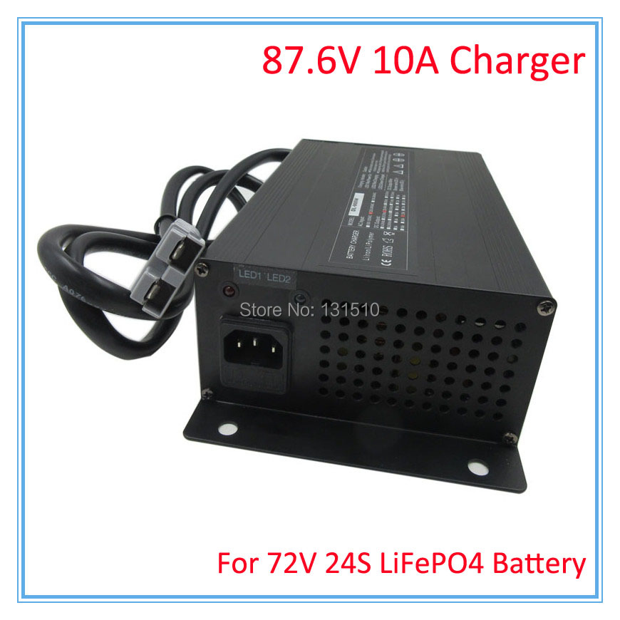 900W 72V 10A LiFePO4 charger Ouput 87 6V 10A charger Used for 72V 24S LFP LiFePO4