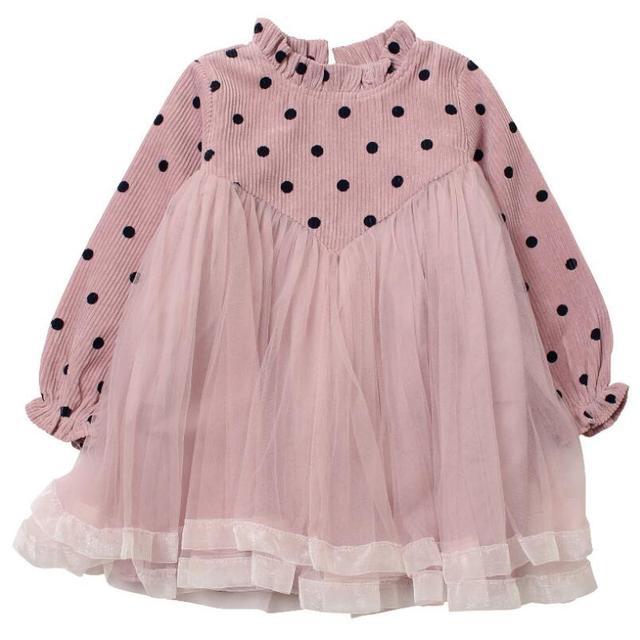 2019 primavera otoño vestido de princesa para niña niños vestidos Dot  imprimir fiesta de cumpleaños del 840eaaee5596