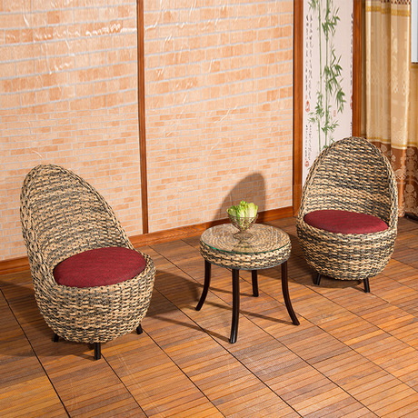 Garden Set Rattan Furniture Chairs + 1 Table Sets 5