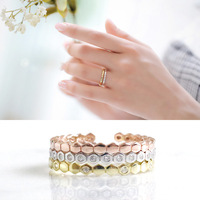 100 925 Sterling Silver Ring Set For Women Aneis Feminino Ringen 3 Color Ring Anillos Mujer