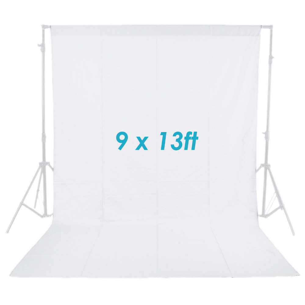 Neewer 9x13 ft/2.8x4M Photo Studio 100% Pure Muslin Collapsible Backdrop Background for Photography/Video White
