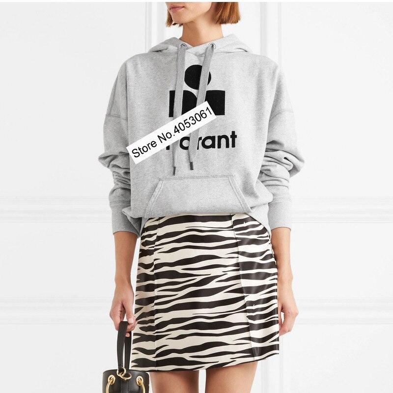 Women Letter Flocking Print Cotton Casual Hooded Hoodie Loose Sweatshirt Female Ladies Printed Printing Pullover Top