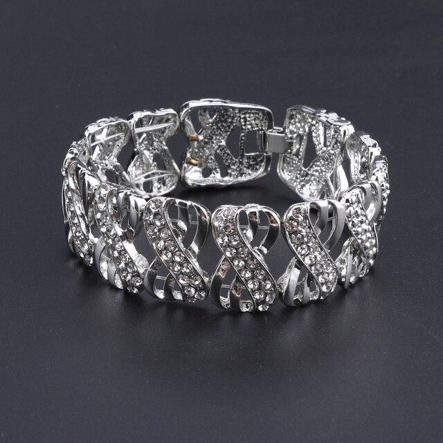 Свадебные Ювелирные наборы для невесты с кристаллами женщин