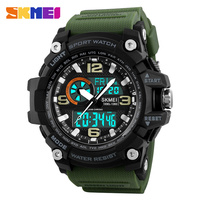 Top Brand Luxury SKMEI Mens Quartz Digital Watch LED Military Waterproof Watches Outdoor Sport Watch For