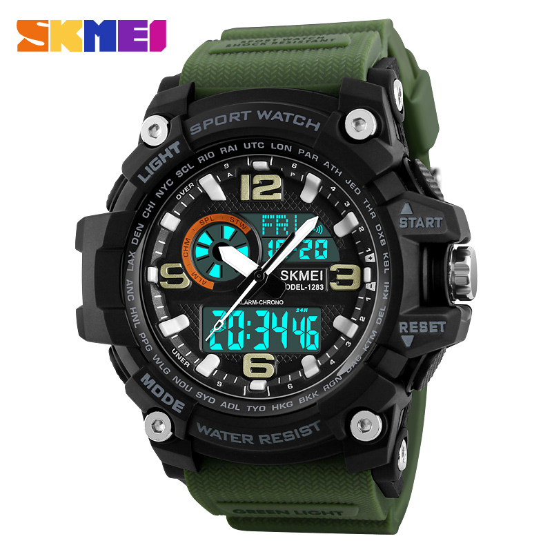 Top Brand Luxury SKMEI Mens Quartz Digital Watch LED Military Waterproof Watches Outdoor Sport Watch For Men Relogio Masculino