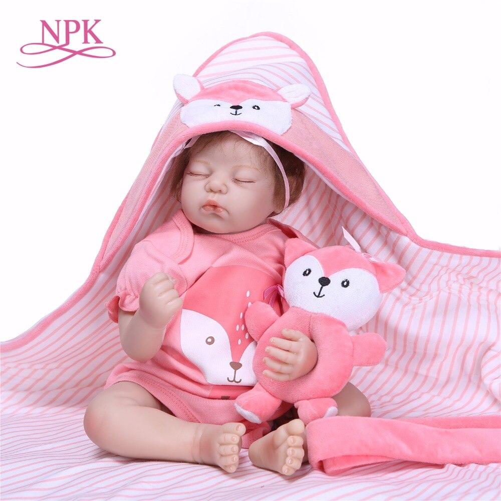 NPK 55 cm 22 pouces reborn bébé poupée en silicone souple vinyle reborn bébé fille poupées bebes reborn bonecas jouer maison jouets cadeau pour les filles-in Poupées from Jeux et loisirs    1