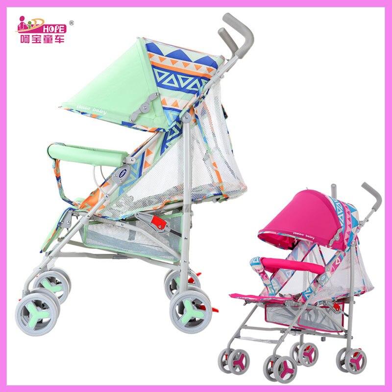 HOPE Super Lightweight Baby Stroller Portable Folding Summer Umbrella Cart Baby Trolley Travel Car Baby Carriage Pram Pushchair