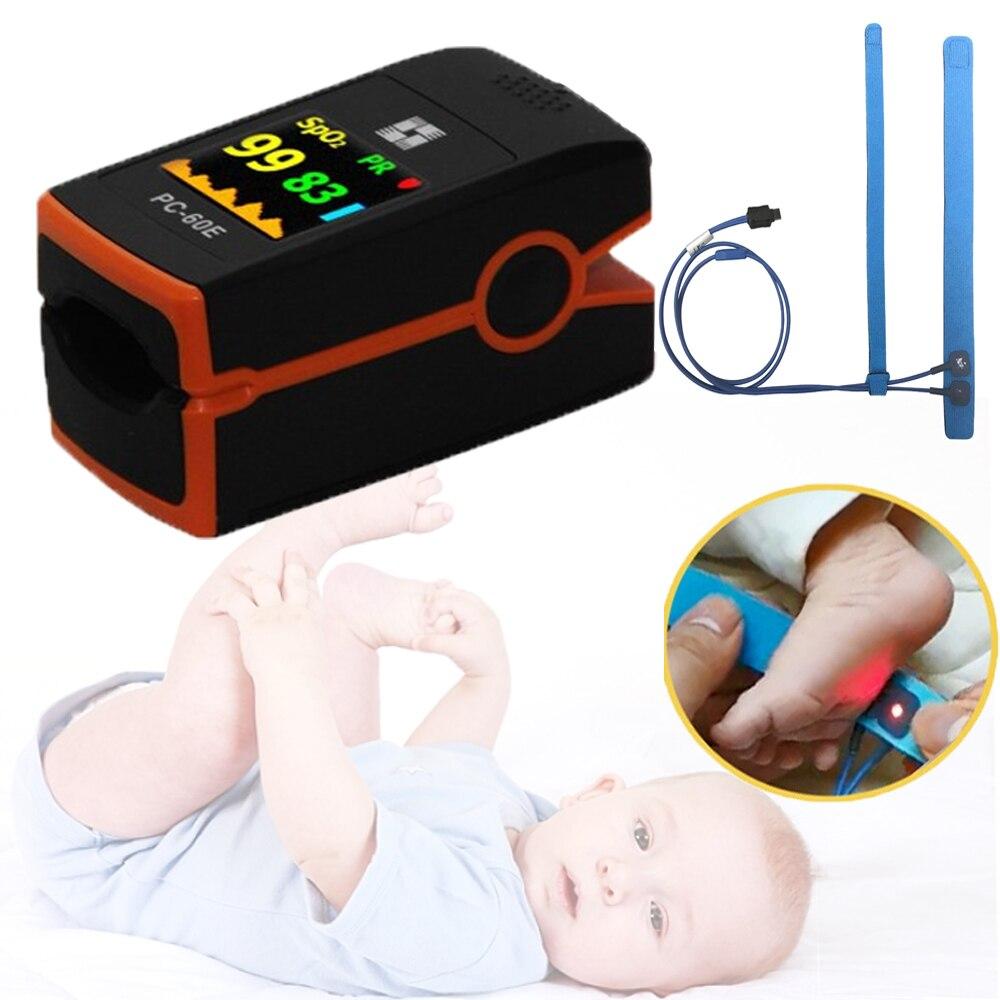 Детский зонд для новорожденных, Пульсоксиметр для детей, насыщение крови кислородом, также для взрослых, PC 60E