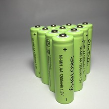 10 pcs/lot 1200mAh 1.2V New Original  NiMH Rechargeable Battery Free shipping