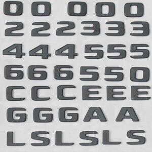 Image 5 - Черная плоская 3D наклейка эмблема W176 W177 A45 A180 A200 A250 Автомобильные буквы задняя звезда багажника 4matic Эмблема для Mercedes Benz AMG