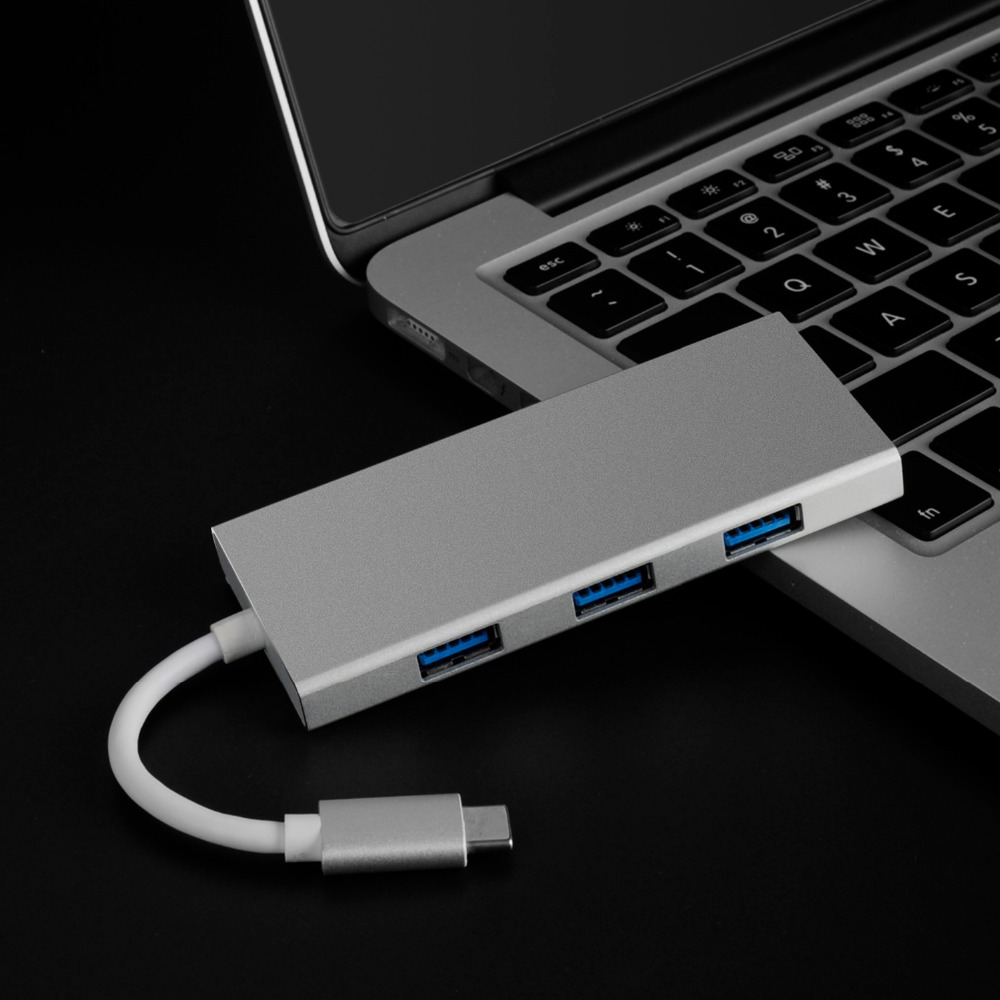 thunderbolt 3 Multiport hub usb type c adapter hdmi 4k 3 port usb3 0 usb3 1 charge tf sd card 7in1 For apple macbook pro 2017