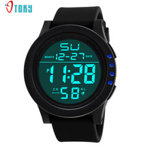 2017 Fashion Sport Lovers Clocks Men LED Waterproof Digital Fashion Watch Military Watches May04