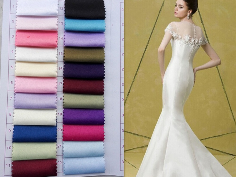 High quality matt multicolored satin good for wedding for Diy party dress