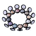 2 pcs 12 cores baked naked eye shadow palette em shimmer metallic stage makeup lipliner sombra para as mulheres à prova d' água