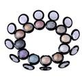 2PCS 12 Colors Baked Naked Eye Shadow Palette in Shimmer Metallic Stage Makeup Eyeshadow For Women Lipliner Waterproof