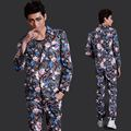 (Suit+Pants)Fashion Personality Male Slim Suits Party Show Stage suit Jacket Nightclub singer dancer Dj costumes set