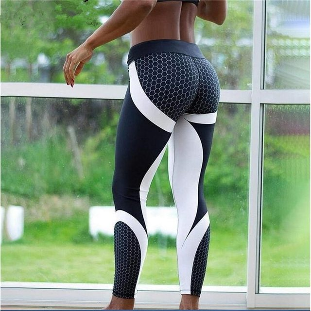 New Fitness leggings Women Mesh Breathable High Waist Sport Legins Femme Workout Legging Push Up Elastic Slim Pants Plus Size 1