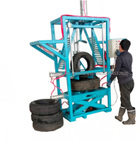 Положите одну шин в другой пневматические нагрузки шин машина нажатия шин машина
