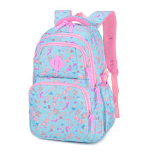 Fashion New Colorful Backpack Princess Wind Girls Cute School Bag Printing Student Bags Light Waterproof Backpack(China)