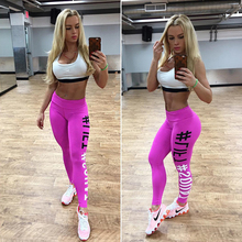 2017 New Tightening Leggings Women Leggins Female Elastic Pant Capri Women Fitness Leggings letters print Slim Trouser AQ985130