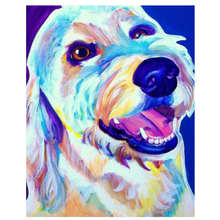 Wall Pictures For Living Room,Drawing By Number,Painting Numbers Colorful Dog