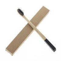 10Pcs Set 18 5cm Flat Handle Super Cheap Adult Natural Bamboo Tooth Brush Toothbrush