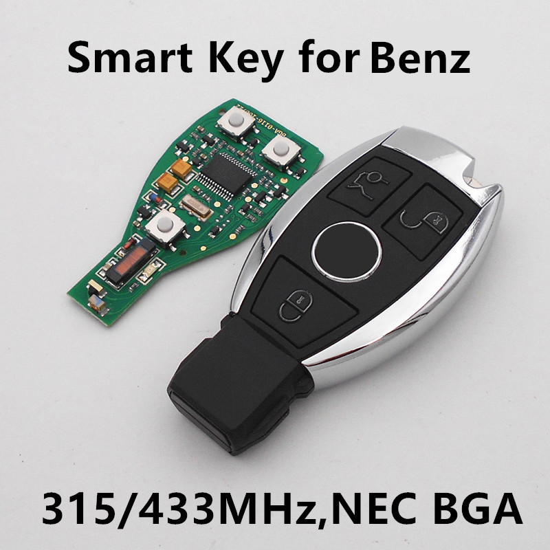 Prix pour (Adapte Mercedes Benz) 3 Boutons Intelligent Intelligent À Distance Clé 315 MHz/433 MHZ pour BENZ Voiture Auto 2000 + NEC et BGA Type