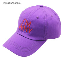HANGYUNXUAN Korean Spring Hat Male and Female Fashion outdoor Leisure  Letter Cap Creative embroidery Women Baseball cap