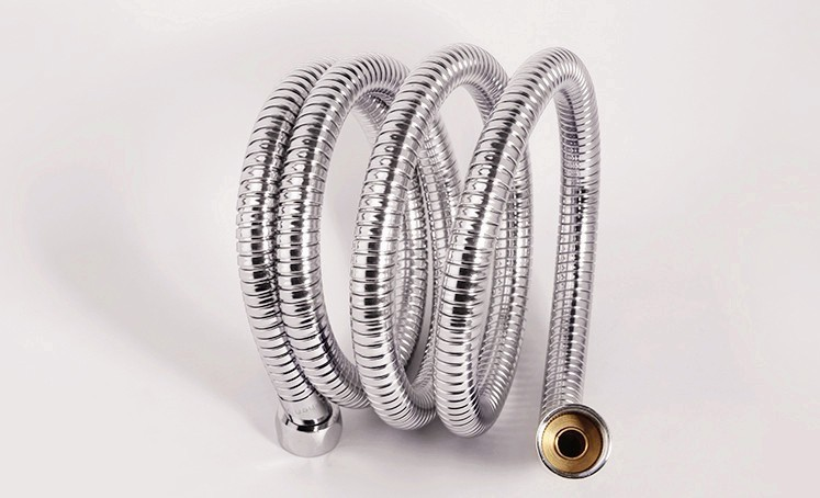 15m stainless steel hose shower pipe with copper core zinc cap double buckler