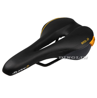 GZDL Bicycle Saddle Synthetic Leather Steel Rail Breathable Hollow Soft Saddle Silica Gel Cushion MTB Cycling Bike Seat MTB9089