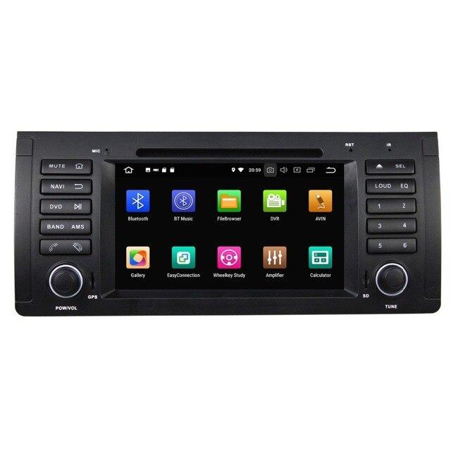 Octa Core 1 din 7 pouces 4 go RAM   Lecteur DVD de voiture pour BMW M5 E39 X5 E53 avec GPS Radio, Bluetooth WIFI USB DVR 32 go de ROM