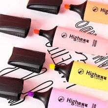 Macaron color mini highlighter pen marking canetas Learn office School  stationery learning Kawai Graffiti fluorescent pens