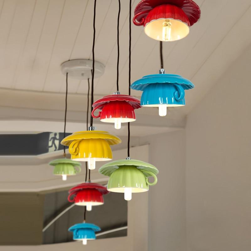 6 Kitchen Lighting Ideas Meethue: HOT Small Simple Modern Teapot / Tea Cup Pendant Lights