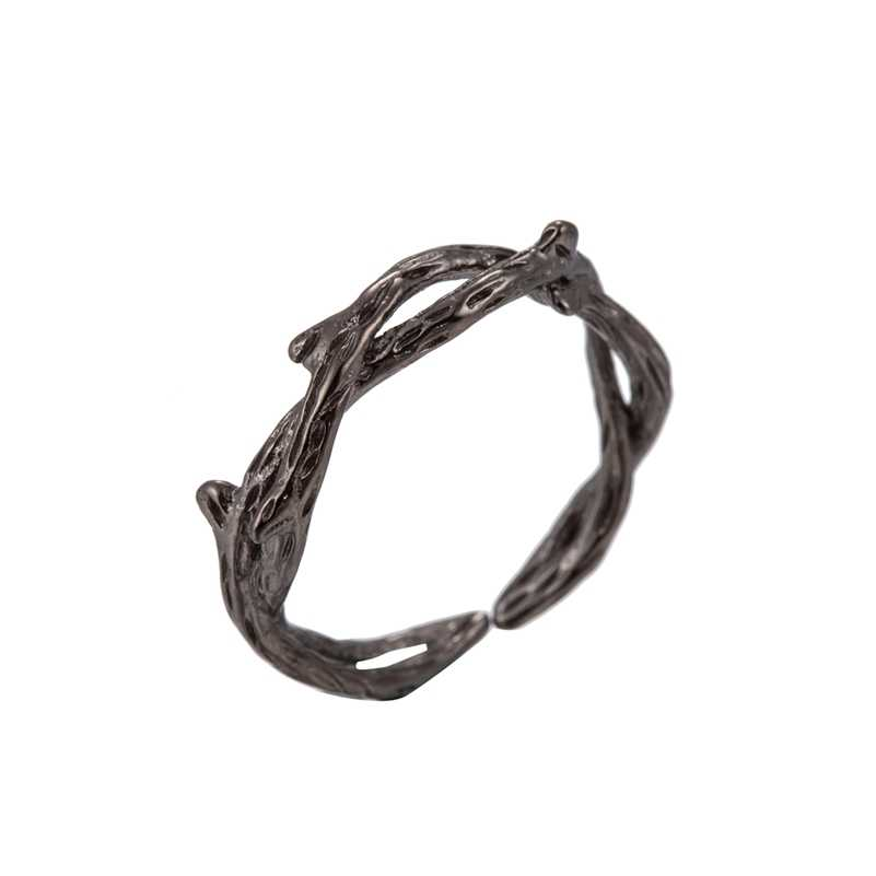 Oly2u New Adjustable  Vintage Retro Crown of Thorns Charms,Thorn Ring Twig Ring, Branch Ring Pendants