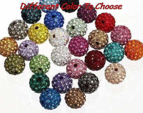 0accdbe6177b 8mm envío libre hotsale del color mezclado rhinestone crystal Shamballa  pulsera espaciador lot moda puede elegir color del grano