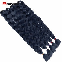 Wignee Pure Color Jumbo Braid 165g/Pack High Temperature Synthetic Fiber Hair Extensions For Braid African Hair Styles For Women