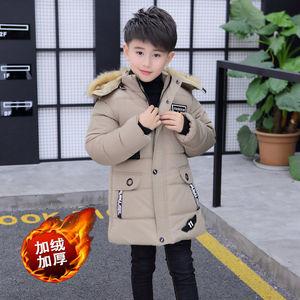 Image 3 - 少年子供冬コート厚く暖かい毛皮パーカーコートjakcets男の子の子供のビロード綿パッド入りのオーバーコート服