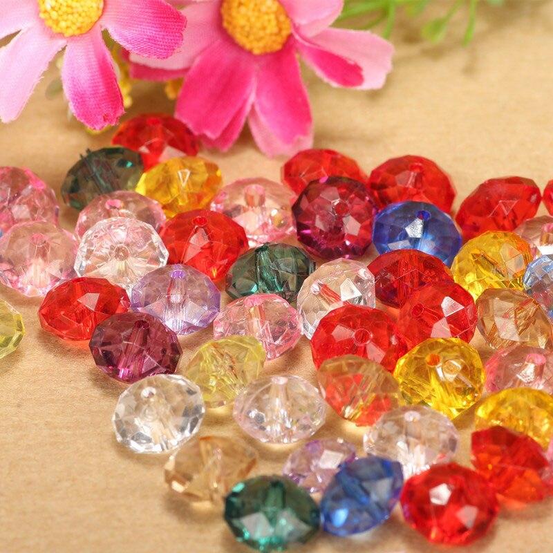 10 мм круглые блестящие Акриловые Кристалл Diy Свободные Abacus бусины ручной швейной фурнитуры
