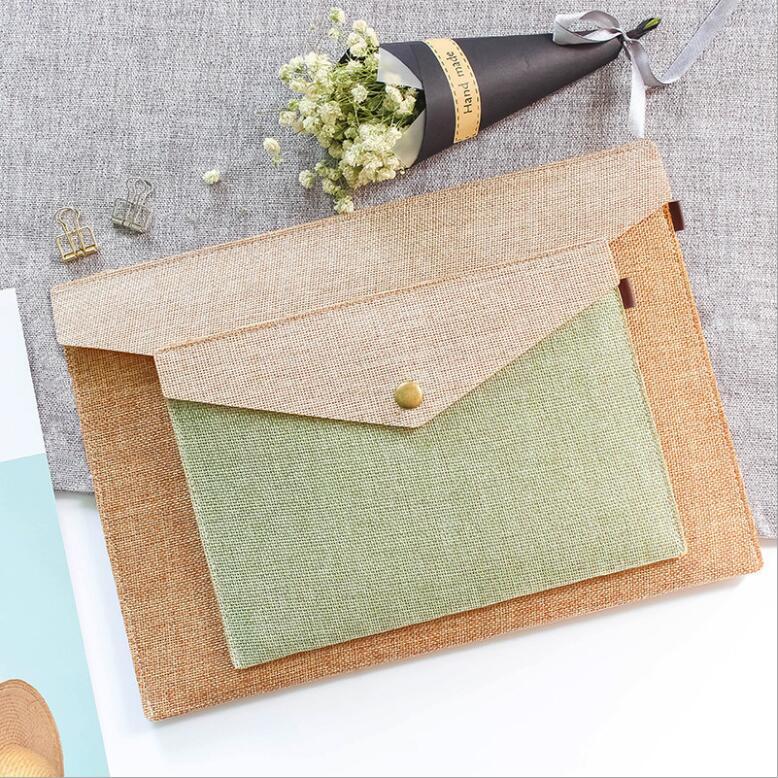 Korean Fashion Big Capacity Elegant A4 A5 File Folder Bag Desk Document Paper Organizer Case Business Briefcase Portfolio Gift