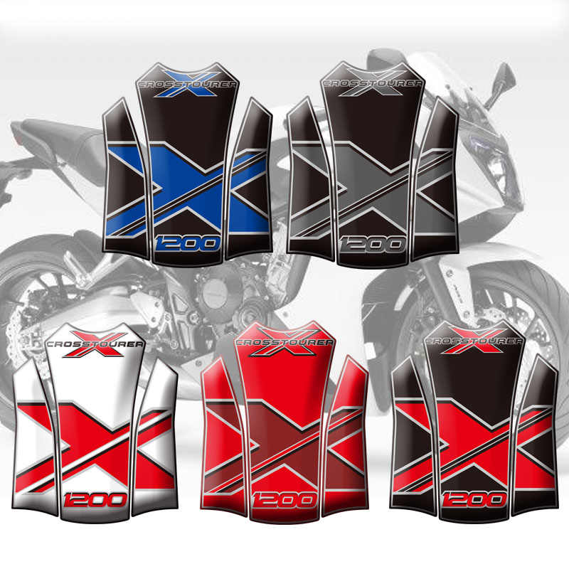Motorcycle Stickers Fuel Tank Sticker Fishbone Protective Decals For Honda VFR1200X Crosstourer 12 - 14 2013 Tank Pad Protector
