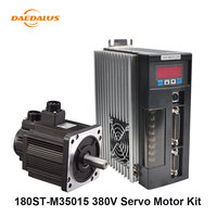 180ST M35015 5.5KW 75A 380V AC Servo Motor 35N.M + Matched Single Phase Motor Driver+3M Cable