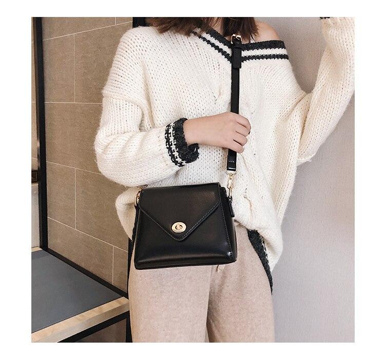 European Fashion Retro Ladies Square bag 2018 New High quality PU Leather Women's Designer Handbag Lock Shoulder Messenger Bags 20