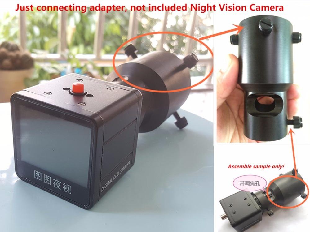 Diy malam visi kamera teleskop menghubungkan adaptor universal lensa