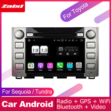 ZaiXi android car dvd gps multimedia player For Toyota Sequoia Tundra 2014~2016 navigation radio video audio