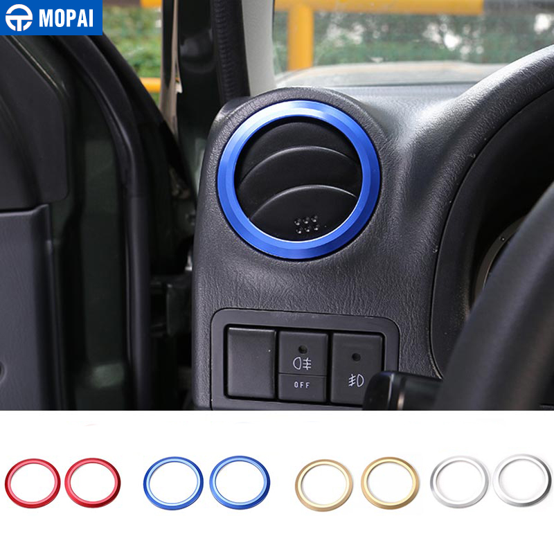MOPAI Interior Mouldings for Suzuki Jimny 2007 Up Car Interior Air Conditioning Vent Decoration Cover Ring Stickers for Jimny цена