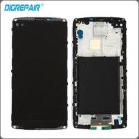 Black For LG V10 H960 H900 VS990 LCD Display Monitor Panel Touch Screen Digitizer Bezel Frame