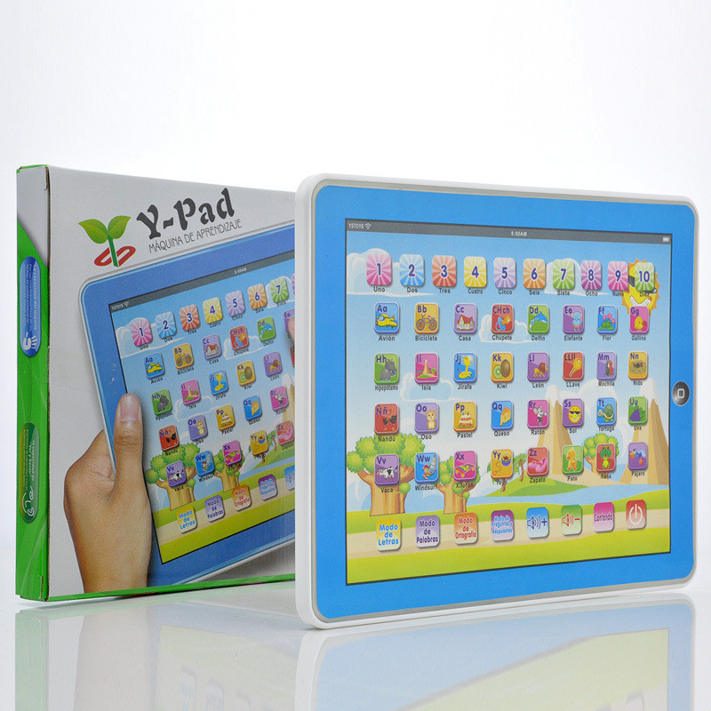 Spanish Language Children kid's toy comupter laptop computer letters Learning machine toys
