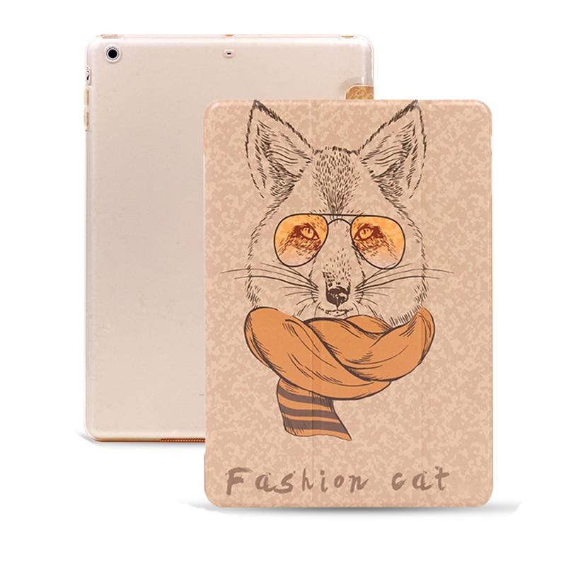 Fashion Cat PU Leather Cover Case For Apple ipad Mini 1 2 3 Tablet Shell for 7.9 Inch Ipad Mini Retina +Screen Film+Stylus Pen