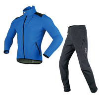 High Quality Winter Warm Mens XXXL Cycle Suits Fleece Sports Team Bike Jersey Blue Large Size MTB Dirt Cycling suits