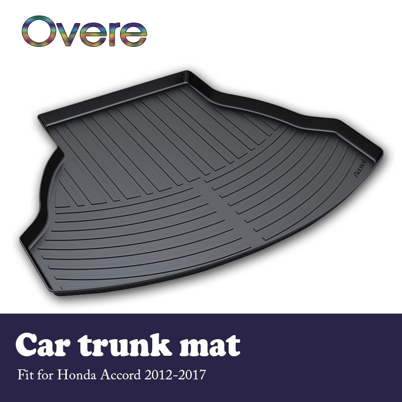 Overe 1Set Car Cargo rear trunk mat For <font><b>Honda</b></font> <font><b>Accord</b></font> 2012 2013 2014 2015 <font><b>2016</b></font> 2017 Waterproof mat Anti-slip carpet <font><b>Accessories</b></font> image